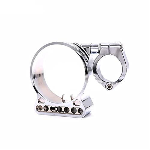 Odómetro Motocicleta Aluminio Montaje Lateral velocímetro de reubicación de la Caja del Soporte Ajuste para Harley Sportster XL883 X1200 Soporte de Instrumentos (Color : Silver)