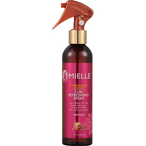 Mielle Organics Pomegranate & Honey Curl Refresher Spray, Sulfate and Paraben Free, 8 Ounces