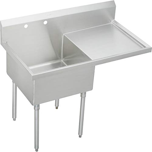 Best Price Elkay WNSF8124R0 Commercial Sink, Lustrous Satin Finish