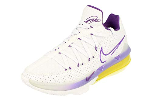 Nike Lebron XVI Low Hombre Basketball Trainers CD5007 Sneakers Zapatos (UK 6 US 7 EU 40, White Voltage Purple 102)