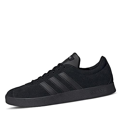 adidas VL Court 2.0, Scarpe da Ginnastica Uomo, Core Black/Core Black/Carbon, 40 EU