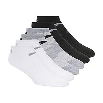 PUMA Women s 6 Pack Runner Socks Grey White Black 9-11