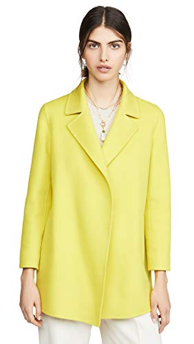 Theory Women's Clairene Jacket, Bright Lime, Yellow, Small