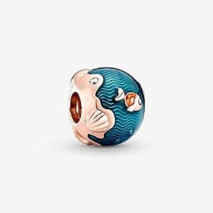 Abalorio De Plata De Ley 925 Auténtica, Cuentas De La Serie Ocean, Que Se Ajustan A La Pulsera Original De Pandora Ch, Joyería DIY para Mujer, Pez Oceánico