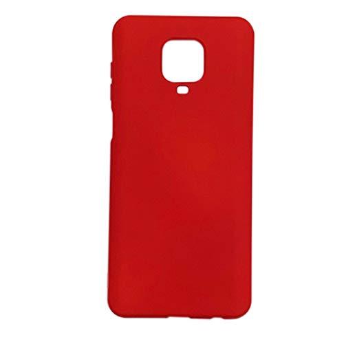 Capa Premium Silicone Touch Incrível Xiaomi Redmi Note 9s / Note 9 Pro (Vermelha)