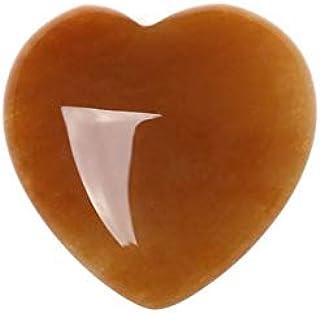 WENPINHUI Gemstones Natural Rose Quartz Crystals Love Puffy Heart Shaped Stone Love crystal Gemstone (Color : 9 Topaz)