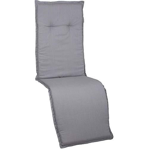 Beo Gartenmöbel Auflage für Relaxstühle 171x50 cm 6cm Dick in Uni hellgrau