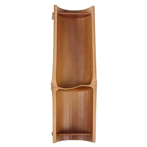 Hemoton Bambus Sushi Tablett Holz Serviettenplatte Obsttablett für Snack Knödel Sashimi