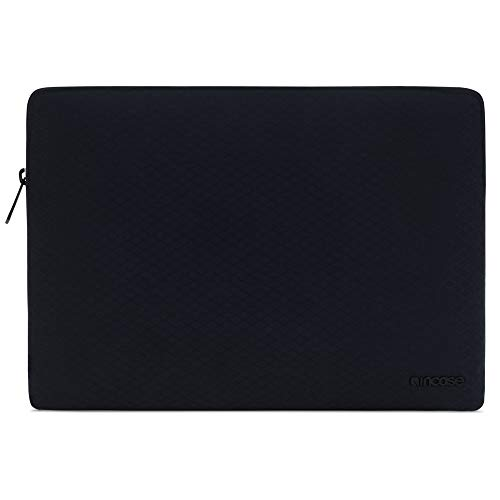 Incase Tasche Slim Sleeve Hulle Apple MacBook Pro Retina 133 Pro 133 2016 2019 Air 133 Late 2018 Mid 2019 schwarz Diamond Ripstop I 3mm Kunstfell Interieur I Reisverschluss