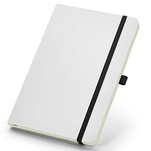 Caderneta de Anotações 13,7x21cm 80 Folhas Sem Pauta Branco e Preto