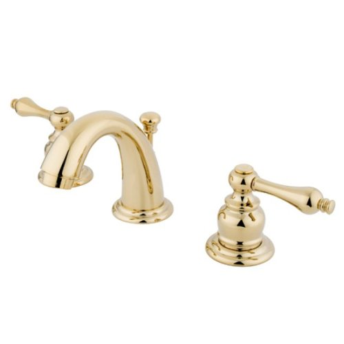 Kingston Brass KB912AL Victorian Mini Widespread Lavatory Faucet with Brass Pop-Up, Polished Brass by Kingston Brass
