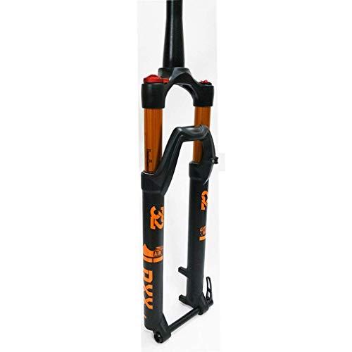 Horquilla de suspensión para Bicicleta 26/27.5/29 Pulgadas Horquilla de Aire para Bicicleta de montaña Suspensión Control de Hombro Aleación de Aluminio Viaje: 100 mm