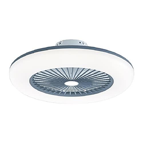 LJKD Ventilador de Techo con Luces y Control Remoto, Luces de Techo contemporáneas Regulables 80W, luz de Ventilador para Sala de Estar, Dormitorio,Gris