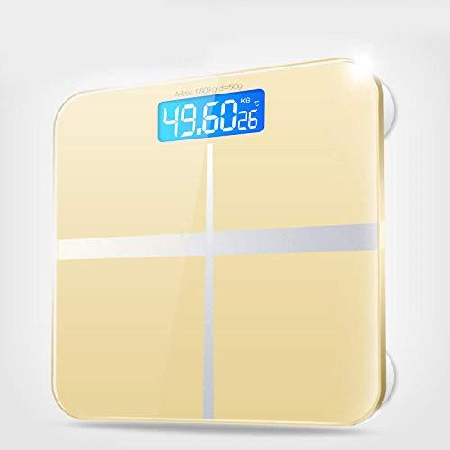 B/H Báscula de baño Digital,Balanza electrónica-Oro Rosa (28x28),Escala Personal Digital Inteligente,