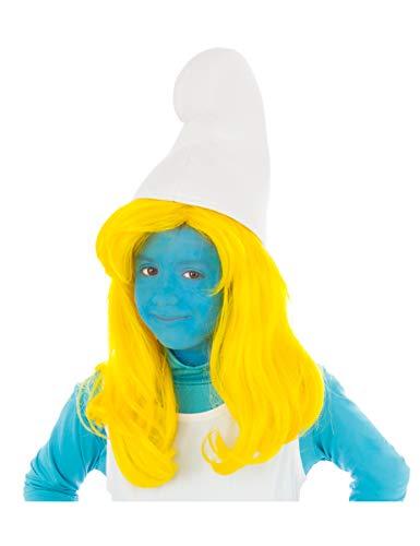Generique - Schlumpfine-Mädchen-Perücke Lizenz gelb