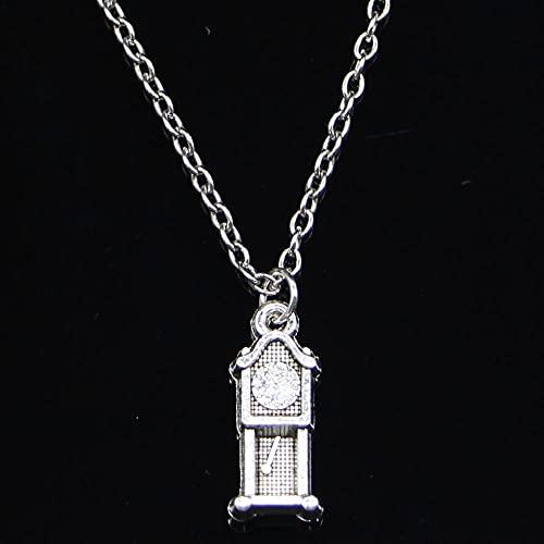 ZOJK Collar 20X8Mm Reloj De Péndulo Antiguo Colgantes Corto Largo Mujeres Hombres Gargantilla Colar Regalo De La Joyería