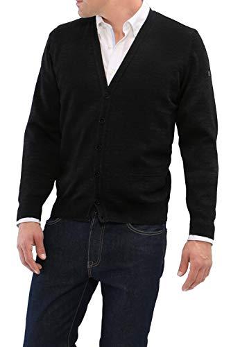 MÄRZ Strick Cardigan Merino Superwash 580100-595 Schwarz, 66