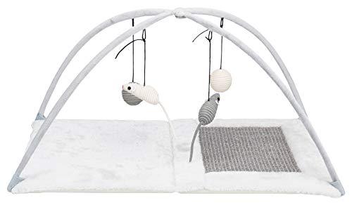 Trixie Katzenspielmatte mit Spielzeug und Sisal-Kratzfläche, Grau (43114), Norme