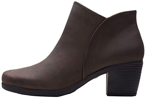 Clarks Un Lindel Zip, Botines Femme, Marron (Brown Oily Brown Oily), 42 EU