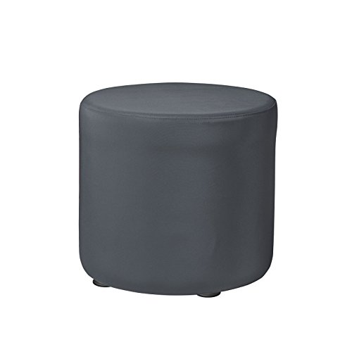 "Marco Group Sonik Soft Seating, 18"" Round Ottoman, Graphite"