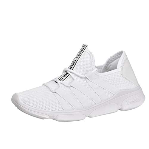 Vovotrade heren loopschoenen ademend turnschoenen veters sportschoenen sneaker sportschoenen slip on licht loopschoenen sneaker ademend vrijetijdsschoenen dames heren 39-44
