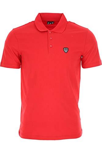 Emporio Armani Polo Uomo Logo Short-Sleeve Rosso SIZE:M