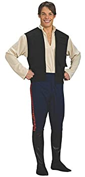 Star Wars Deluxe Hans Solo Costume Black/Blue X-Large