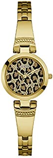 Guess Dress Watch for Women, Stainless Steel Case, Animal Print Dial, Analog -W0890L3