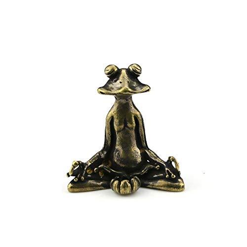 Dekorativ während Mini Nette Vintage Brass Sitzen Zen Frosch Statue Räucherstäbchenhalter Yoga-Frosch-Skulptur Innenministerium-Schreibtisch-Dekoration Ornament Spielzeug-Geschenk