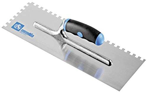 Ausonia - Frattazzo per colla 36x12 manico bimateriale Dente 12x12