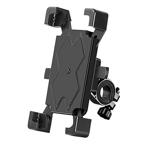 Soporte de teléfono móvil para bicicleta, de aluminio, con rotación de 360°, para smartphone o moto, universal, para smartphone de 4,0 a 6,8 pulgadas, GPS, otros dispositivos (base)