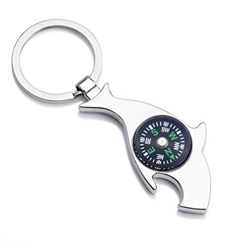 hsy Schlüsselanhänger, Flaschenöffner Buckle Compass Keychain Creative Metal Keychain