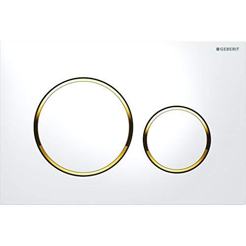 Geberit 115.882.KK.1 Sigma 20 Betätigungsplatte, vergoldet/weiß