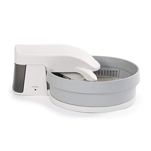 Petsafe Boîte à Litière Autonettoyante Automatique Simply Clean pour Chat + 6 mois, Compatible avec de la Litière Agglomérante. Silencieuse, Filtre à charbon pour réduire les Odeurs. Facile à Nettoyer