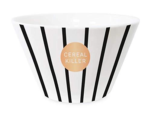 Grafik Werkstatt Cereal Bowl with Real Gold Porcelain Bowl Cereal Killer