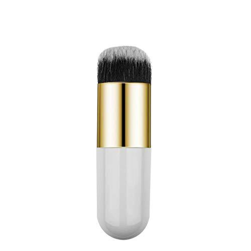 LZJE 1 pc Professionnel Chubby Pier Fondation Brosse 5 Couleur Maquillage Brosse Plat Crème Maquillage Brosses Professionnel Cosmétique, 2