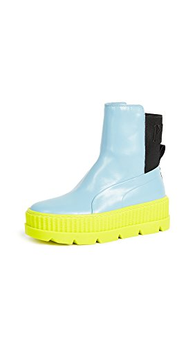 PUMA Women's Fenty x Chelsea Sneaker Boots, Sterling Blue/Black/Limeade, 9.5 B(M) US