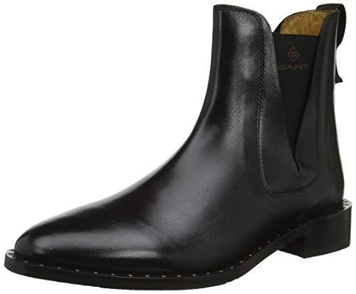 GANT Footwear Damen Hampton Chelsea Boots, Schwarz (Black G00), 38 EU