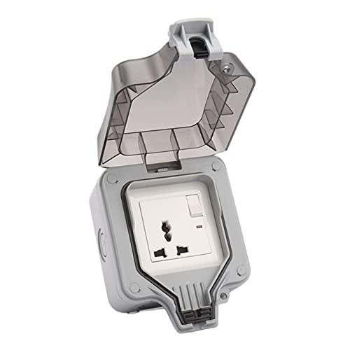 oshhni Interruptor Socket Box Enchufe de Pared Receptáculo de Polipropileno Outlet Power Socket Cubierta de la Caja - 5 Agujeros con Interruptor