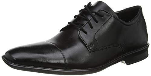 Clarks Men's Bensley Cap Derbys, Black (Black Leather Black Leather), 8 UK