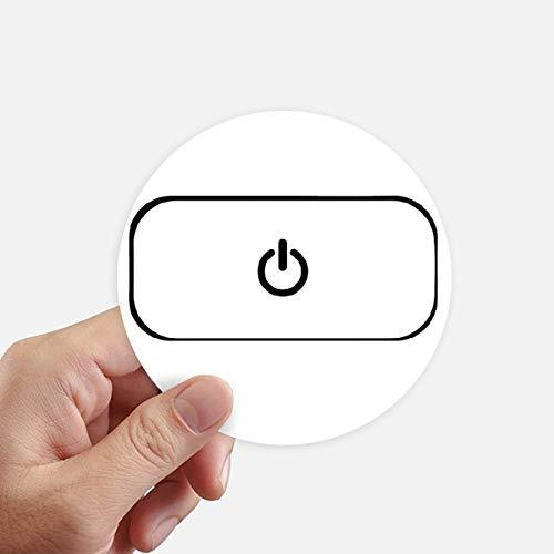 DIYthinker Toetsenbord Symbool Power Ronde Stickers 10 Cm Muur koffer Laptop Motobike Decal 8 Stks
