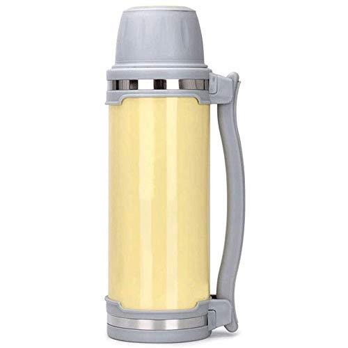 REWD Termo Café para Llevar Water Bottle Termo - Aislamiento por vacío con Tapas y Paja [Taza del Viaje] Doble Pared de Agua de la Taza de café for el hogar, Oficina, Obras al Aire Libre Grande