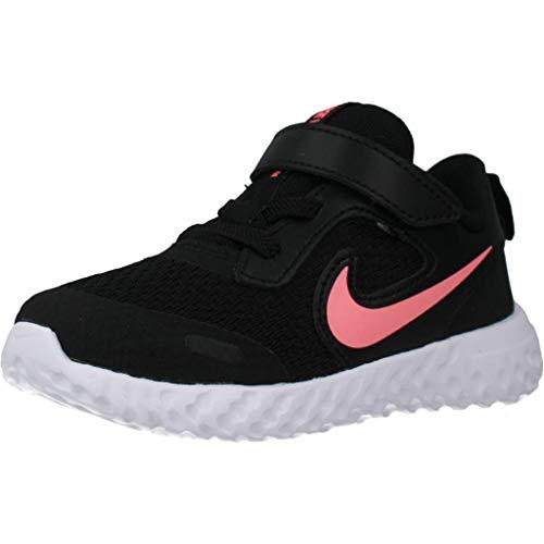 Nike Unisex-Baby Revolution 5 (TDV) Running Shoe, Black/Sunset Pulse, 23.5 EU