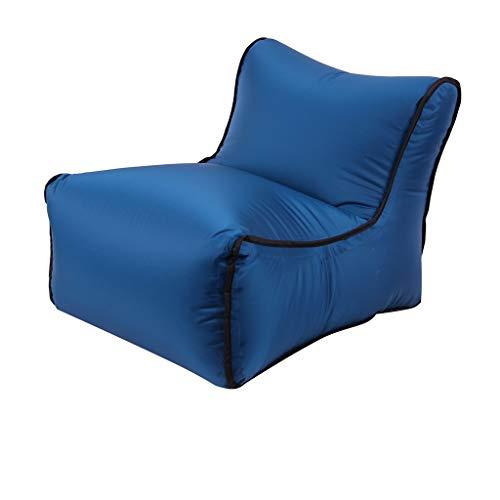 serliy Aufblasbarer Luft-Ruhesessel-faules Couch-Stuhl-Sofa sackt im Freien kampierende Reise EIN (Marine)