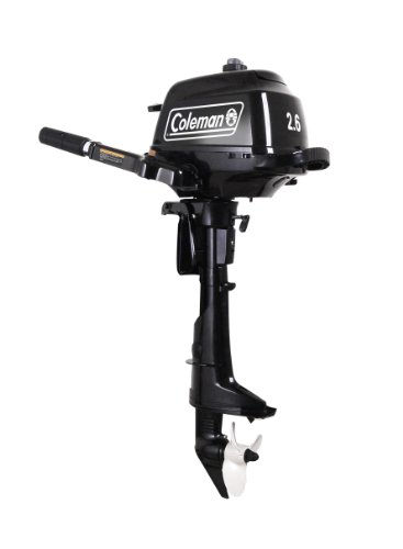 Coleman Powersports 2.6 hp Outboard Motor with Short Shaft, Black