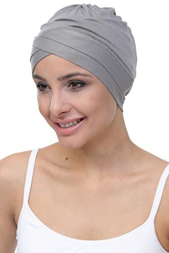 Deresina W gorro de algodón para la quimioterapia, la pérdida de cabello (Gris)