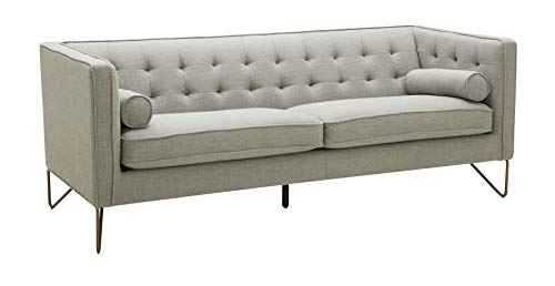 """Amazon Brand – Rivet Brooke Contemporary Mid-Century Modern Tufted Sofa Couch, 82""""W, Grey"""
