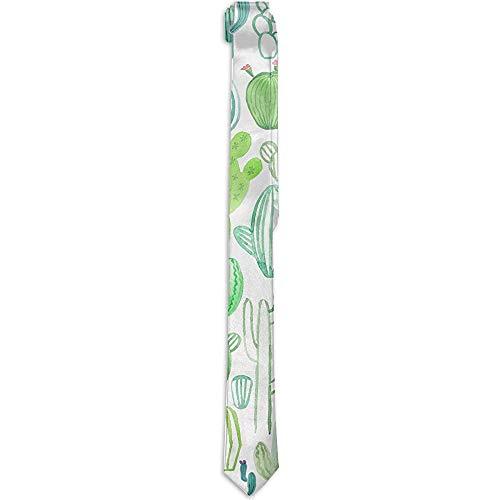 Kostuum Accessoire Aquarel Verschillende Cactus Neckties Mode Zijde Neckties Nieuwigheid Neck Ties voor Mannen Teen Jongens