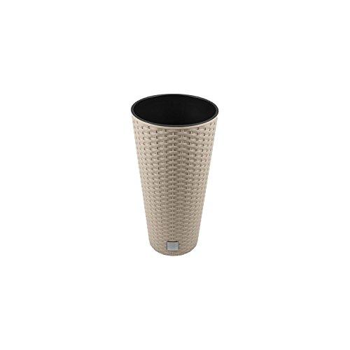 Unbekannt Vaso di Fiori Vaso Vaso Superficie Rotonda Imitazione Rattan Inserto Mocca abitazioni DRTUS incl. 8 Litri