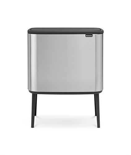 Brabantia 316227 Bo Trash Can, 11 + 23 L, Matt Steel